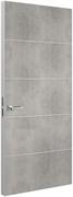 Дверь Tokyo М4, лофт светлый с алюминиевой кромкой