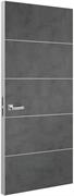 Дверь Tokyo М4, лофт темный с алюминиевой кромкой