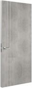 Дверь Tokyo М2, лофт светлый с алюминиевой кромкой