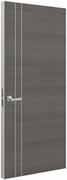 Дверь Tokyo М2, дуб серый с алюминиевой кромкой