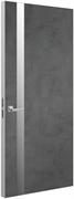Дверь Tokyo Z, лофт темный с алюминиевой кромкой