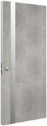 Дверь Tokyo Z, лофт светлый с алюминиевой кромкой