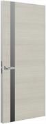 Дверь Tokyo L, дуб молочный с алюминиевой кромкой