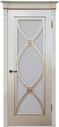 Межкомнатная дверь Эмаль Flamenko с патиной со стеклом
