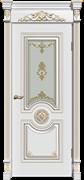 Межкомнатная дверь Эмаль patina Olimp со стеклом