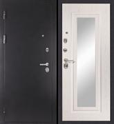 Входная металлическая дверь в квартиру Царское зеркало Муар Белый ясень