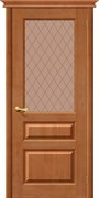 Межкомнатная дверь М5 Т-05 (Светлый Лак)/Кристалл