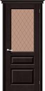 Межкомнатная дверь М5  Т-06 (Темный Лак)/Кристалл